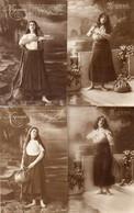 DC5111 - Schöne Motivkarten Ak Lot 10 Karten Mignon Junge Dame Frau Mädchen, Cpa Jeunes Femmes Femme Fille 10 Pièces - Mujeres