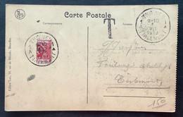 TX 10 C. (GEHALVEERD) THIENEN TIRLEMONT Op Postkaart - Briefe U. Dokumente