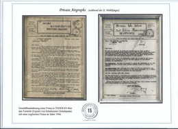 Persia - Persien - Iran - Middle East;   2 V-Mail (used By A Private Company !!!) Normally Used By Military !!!!!! - Irán