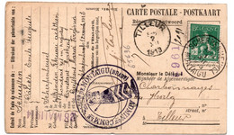 L602  Potkaart Scherpenheuvel Naar Tilleur - 1912 Pellens