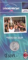 MEDAGLIA COLLEZIONI MEMORABILI GAZZETTA DELLO SPORT MILAN CHAMPIONS LEAGUE 1993/94 - Unclassified