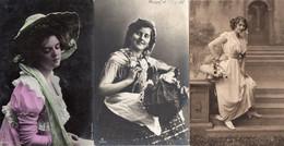 DC1453 - Schöne Motivkarten Ak Lot 3 Karten Frauen Damen Mädchen - Frauen