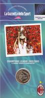 MEDAGLIA COLLEZIONI MEMORABILI GAZZETTA DELLO SPORT MILAN CHAMPIONS LEAGUE 2002/03 - Unclassified