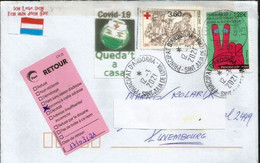 Andorra Letter, Franked With Covid-19 Prevention Coronavirus Andorran Stamp, Sent To Luxembourg,  Return To Sender - Covers & Documents