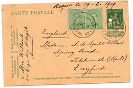 L607  Postkaart Antwerpen Naar Engeland - 1912 Pellens