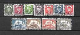 GROENLANDIA - 1950/60 - N. 19/27 USATI (CATALOGO UNIFICATO) - Ohne Zuordnung