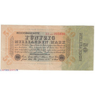 50 Milliarden Mark 10 Octobre 1923 TTB Ros 117 - Sammlungen