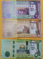 Saudi Arabia 5,10,50,100,500 Riyals 2016 UNC Set Of 5 Notes P-38 A, P-39 A, P-40 A, P-41 A, P-42 A - Saudi Arabia