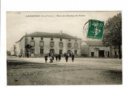 Laurière Bas Du Champ De Foire Carte En L'état Déchirure - Lauriere