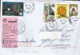 Lettre D'Andorre Adressée à WILTZ (Luxembourg) Pendant Confinement Covid-19, Return To Sender. 2 Photos Recto-verso - Covers & Documents