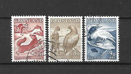 GROENLANDIA - 1966/69 - N. 56/58 USATI (CATALOGO UNIFICATO) - Gebraucht