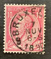 """Leopold II OBP 46 - 10c Gestempeld EC BRUXELLES 9 """"Dienst Abonnementen"""" - 1884-1891 Leopoldo II"""