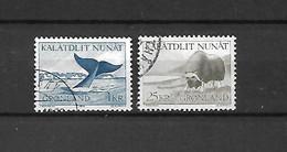 GROENLANDIA - 1969/70 - N. 62/63 USATI (CATALOGO UNIFICATO) - Gebraucht