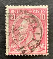 """Leopold II OBP 46 - 20c Gestempeld EC BRUXELLES 14 """"Journaux"""" - 1884-1891 Leopold II"""