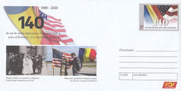ROMANIA- USA DIPLOMATIC RELATIONS, COVER STATIONERY, ENTIER POSTAL, 2020, ROMANIA - Postal Stationery
