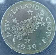 New Zealand - Crown 1949 - Proposed Royal Visit - KM# 22 - Nueva Zelanda
