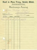 """Solingen Wald Kleine Rechnung 1912 """" C.&M.Frey Samen- U. Blumenzwiebel-Großhandel """" - Agriculture"""