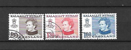GROENLANDIA - 1979 - N. 100/02 - N. 103 - N. 104 - N. 106 USATI (CATALOGO UNIFICATO) - Gebraucht