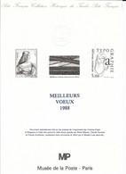 Doc Fdc+ Gravure , Meilleurs Voeux 1988, Joconde De Vinci... - Documenten Van De Post