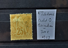 05 - 21 - Nouvelle Calédonie N° 53 Oblitéré Cachet B - Moindou - Cote : 300 Euros - Gebraucht