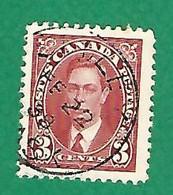 1937 N° 192 GEORGE VI 3 C.  OBLITÉRÉ - Usados