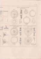 CHEMIN DE FER PLAN SIGNAL D'ALARME PART MASSOT,SIGNAUX D'ALARMES M.HOLYOAKE ,ROUES DE WAGONS PAR M.PECKHAM REF 71089 - Other Plans