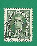 1937 N° 190 GEORGE VI  1 C.  OBLITÉRÉ - Usados
