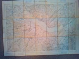 "Topographischer Atlas Der Schweiz ""Thun - Interlaken"", Maßstab 1:50000, Gr. 58 X 78 Cm, Um 1885 - Topographical Maps"