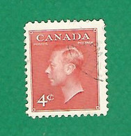 1949 N° 239A  GEORGE VI  4 C.  OBLITÉRÉ - Usados