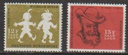 Saarland1958 MiNr.429 - 430  ** Postfrisch 50.Todestag Wilhelm Busch Max Und Moritz ( 2569 ) Günstige Versandkosten - Ongebruikt