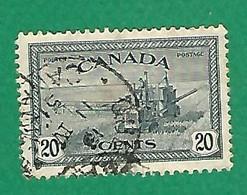 1946 N° 222 FAUCHEUSE LIEUSE   20 C.  OBLITÉRÉ - Usados