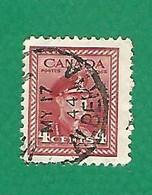 1943 N° 209a C DENTELÉE 12 VERTICALE   ARMÉE    4 C.  OBLITÉRÉ - Usados