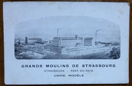 CPA GRANDS MOULINS DE STRASBOURG - USINE MODELE - Industrie