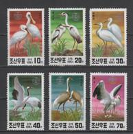 (S1364) NORTH KOREA, 1991 (Endangered Birds). Complete Set. Mi ## 3174-3179. MNH** - Corée Du Nord