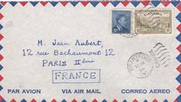 CANADA : Georges VI Sur Lettre Par Avion De Brantford Pour La France 1950 Flamme Ondulée - Cartas