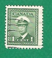1943 N° 205a C DENTELÉE 12 VERTICALE MARINE   2 C.  OBLITÉRÉ - Usados