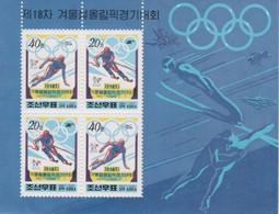 (SS149) NORTH KOREA, 1998 (Winter Olympic Games, Nagano). Sheetlet. Mi ## 3994-3995. MNH** - Corée Du Nord