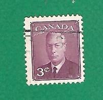 1950 N° 233 GEORGE VI 3 C. LILAS OBLITÉRÉ - Usados