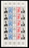 Feuille Complète -  F1695 General De Gaulle N** Cote 15 Euros - Ganze Bögen
