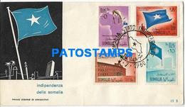 159830 AFRICA SOMALIA COVER CANCEL YEAR 1960 FLAG INDEPENDENCE NO POSTAL POSTCARD - Somalia (1960-...)