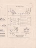 CHEMINS DE FER PLAN DISPOSITIF POUR TRANSBORDER ETC PAR MM.SUDELEY ET WEBBER,TRUC PAR M.CHEVALIER REF 71092 - Other Plans