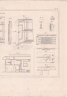 CHEMINS DE FER PLAN VOITURE PAR M.LEVE,MACHINE A LAMINER LES BANDES PAR M.MUNTON REF 71093 - Other Plans