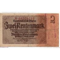 ALLEMAGNE 2 Rentenmark 30 Janvier 1937 TB Ros 167E - Sammlungen
