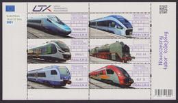 Poland 2021 Modern Rolling Stock Full Of Set Mini Sheet + Tab MNH** New!!! - Trains