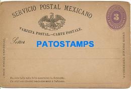 159835 MEXICO 3 CENTAVOS POSTAL STATIONERY NO POSTCARD - Mexique