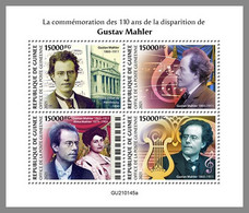 GUINEA REP. 2021 MNH Gustav Mahler Composer Komponist Compositeur M/S - OFFICIAL ISSUE - DHQ2119 - Musica