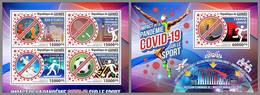 GUINEA REP. 2021 MNH Covid-19 Sports Sport M/S+S/S - OFFICIAL ISSUE - DHQ2119 - Malattie