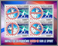 GUINEA REP. 2021 MNH Covid-19 Sports Arctic Winter Games M/S - OFFICIAL ISSUE - DHQ2119 - Winter (Varia)
