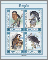 GUINEA BISSAU 2021 MNH Owls Eulen Hiboux M/S II - OFFICIAL ISSUE - DHQ2119 - Owls
