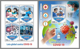 GUINEA BISSAU 2021 MNH Covid-19 Global Fight Weltweiter Kampf M/S+S/S - OFFICIAL ISSUE - DHQ2119 - Malattie